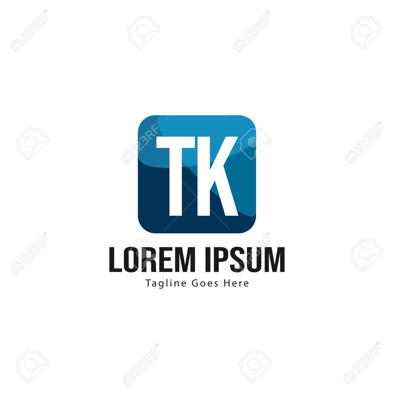 Initial TK logo template with modern frame. Minimalist TK letter logo vector illustration - 129916218