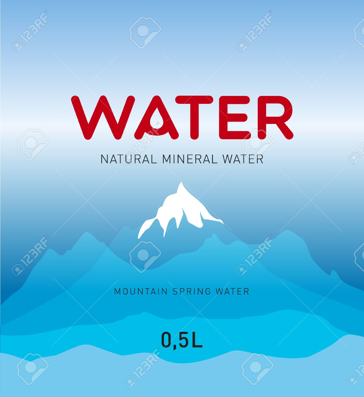 Water Label Design, Background Royalty Free Cliparts, Vectors, And ...
