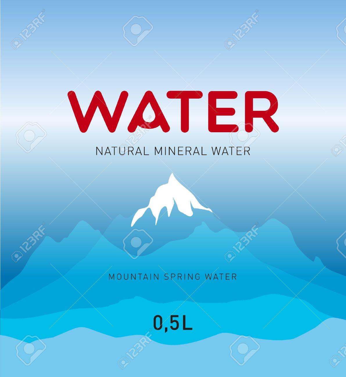 water label design background stock vector 28381988