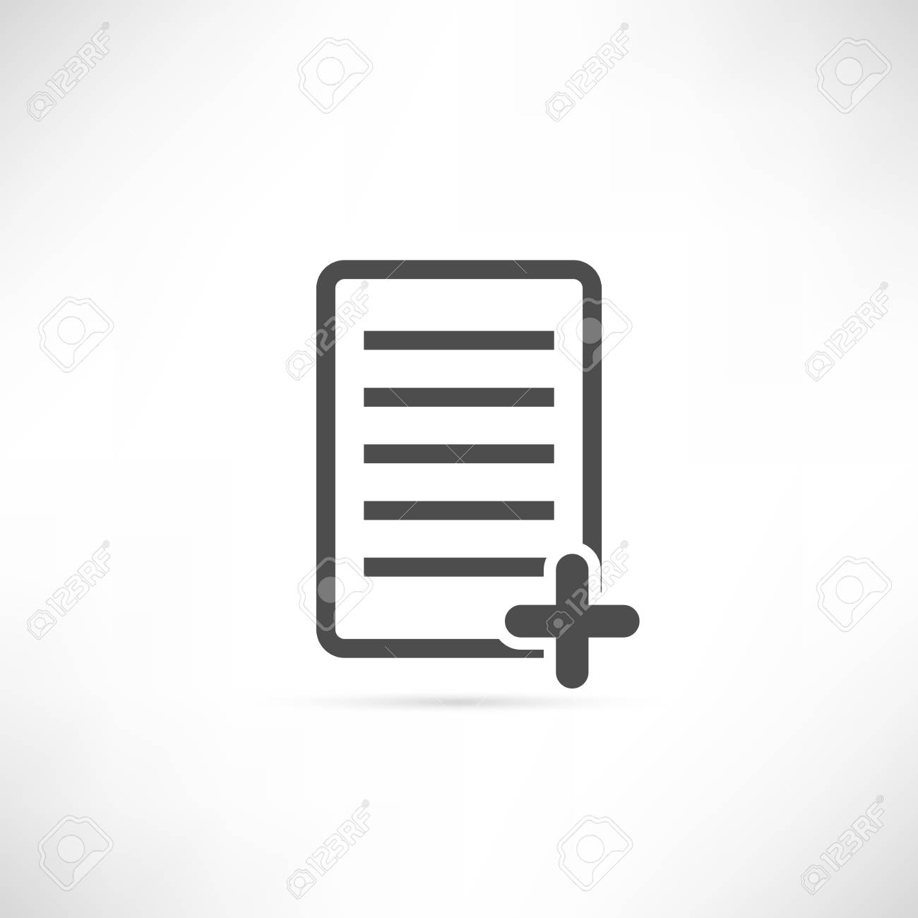 Text Or File Add Icon In Simple Outline Design Royalty Free
