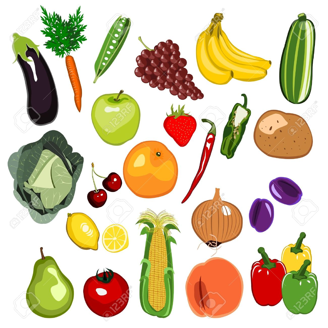 Fruit And Vegetable Clipart - More information