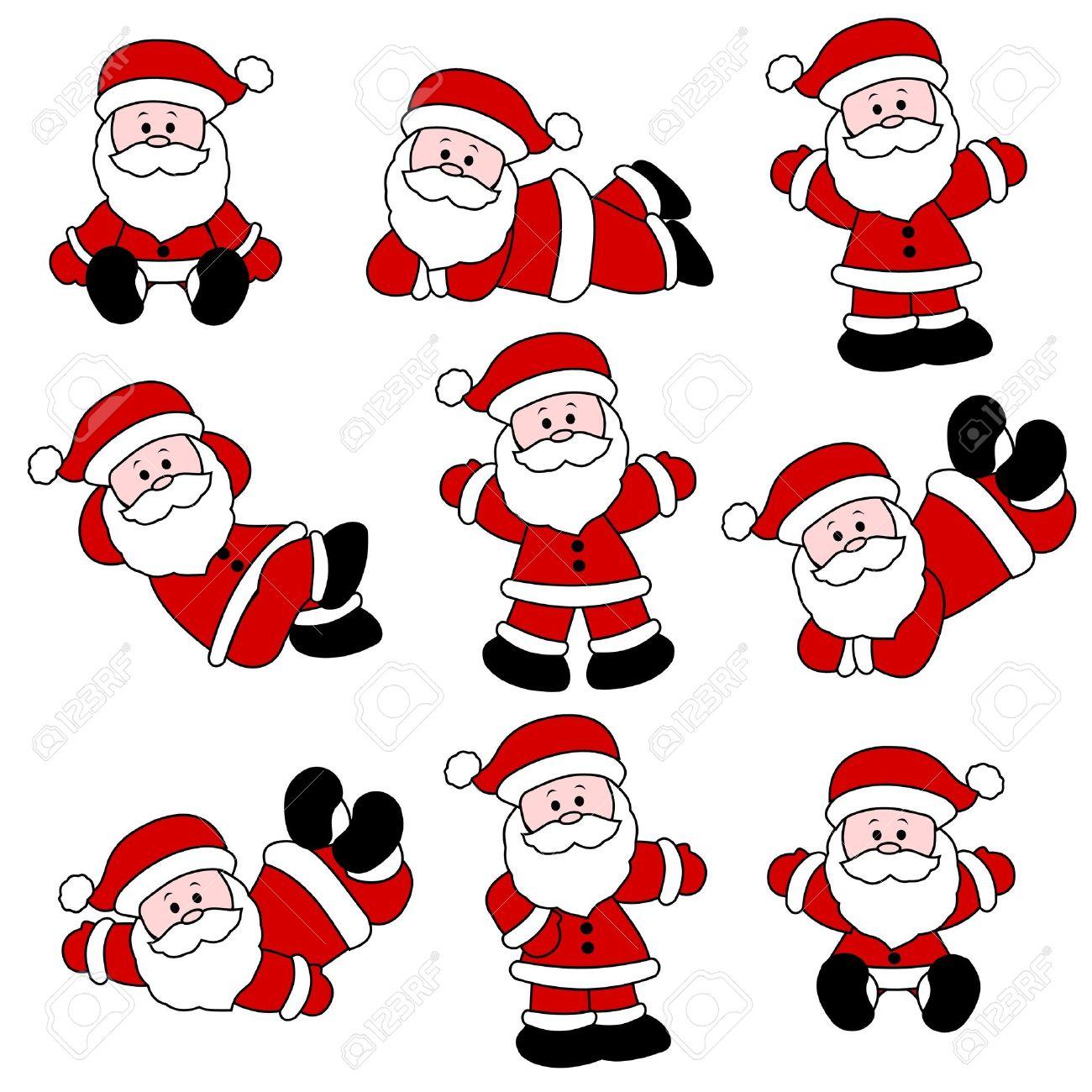 9 Festlich Hübsch Santa Set Für Weihnachten Lizenzfrei Nutzbare ...