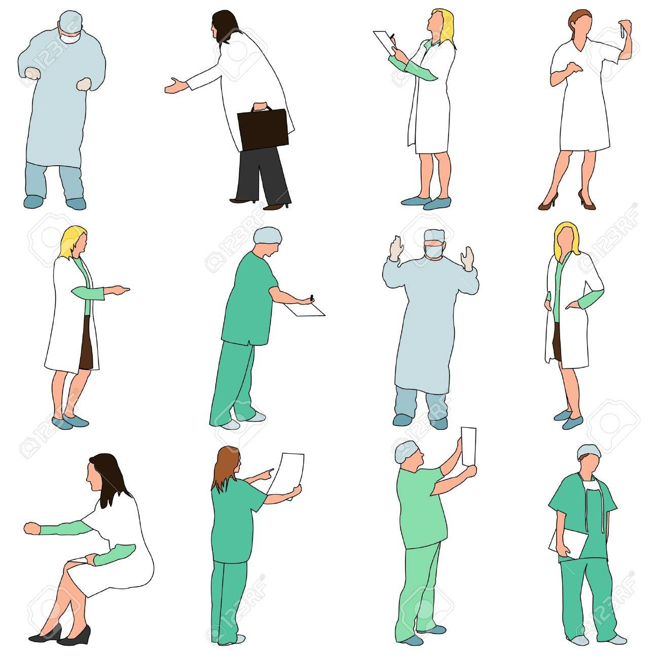 People - Professions - Medical Stock Vector - 10738057