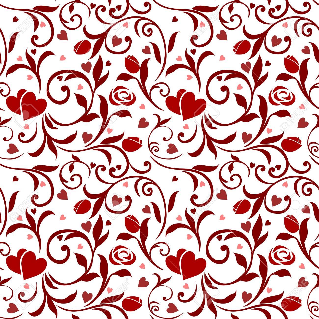 Seamless Valentines Pattern 01 Stock Vector - 12352226