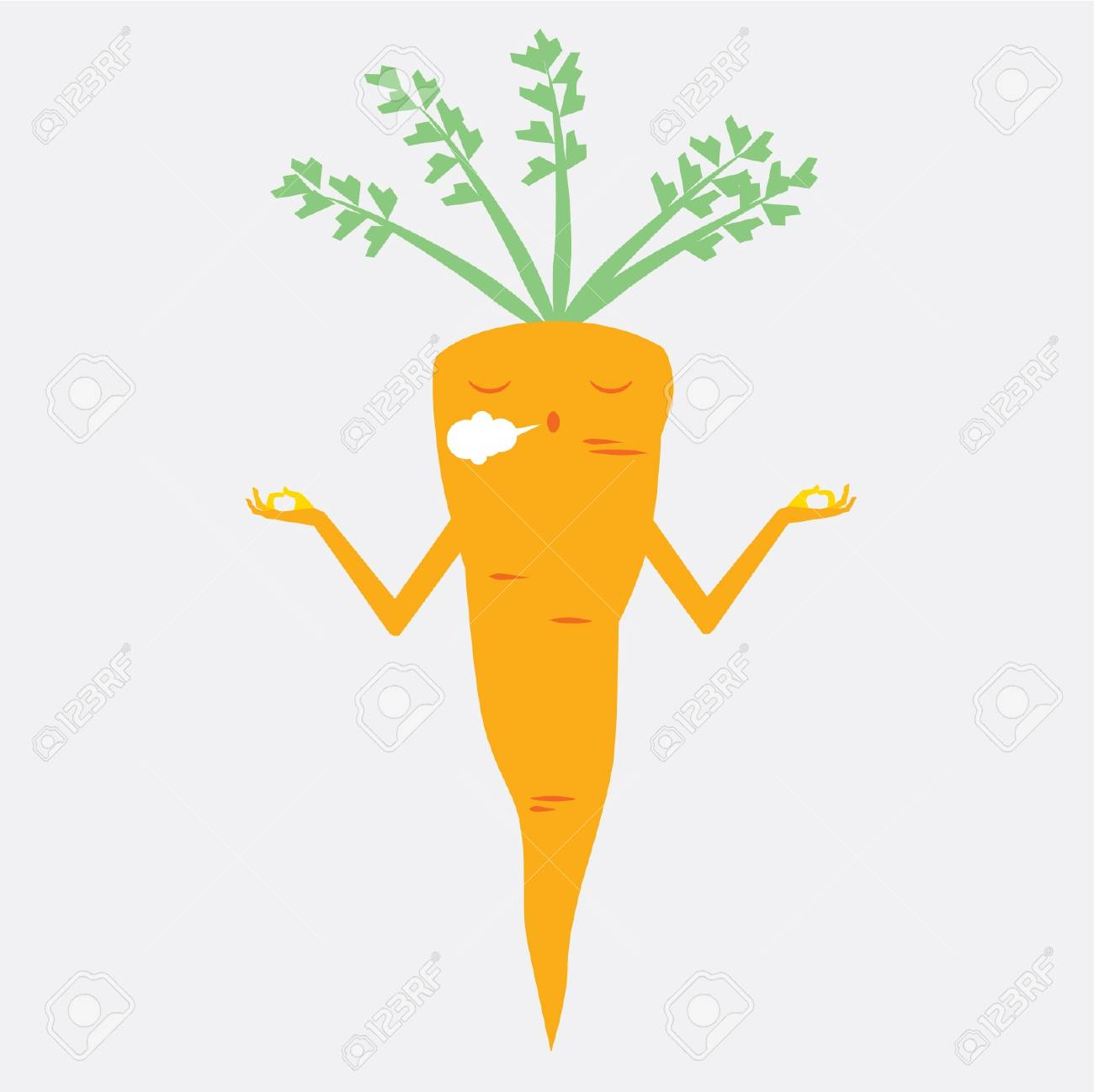 concetration carrots Stock Vector - 21685930