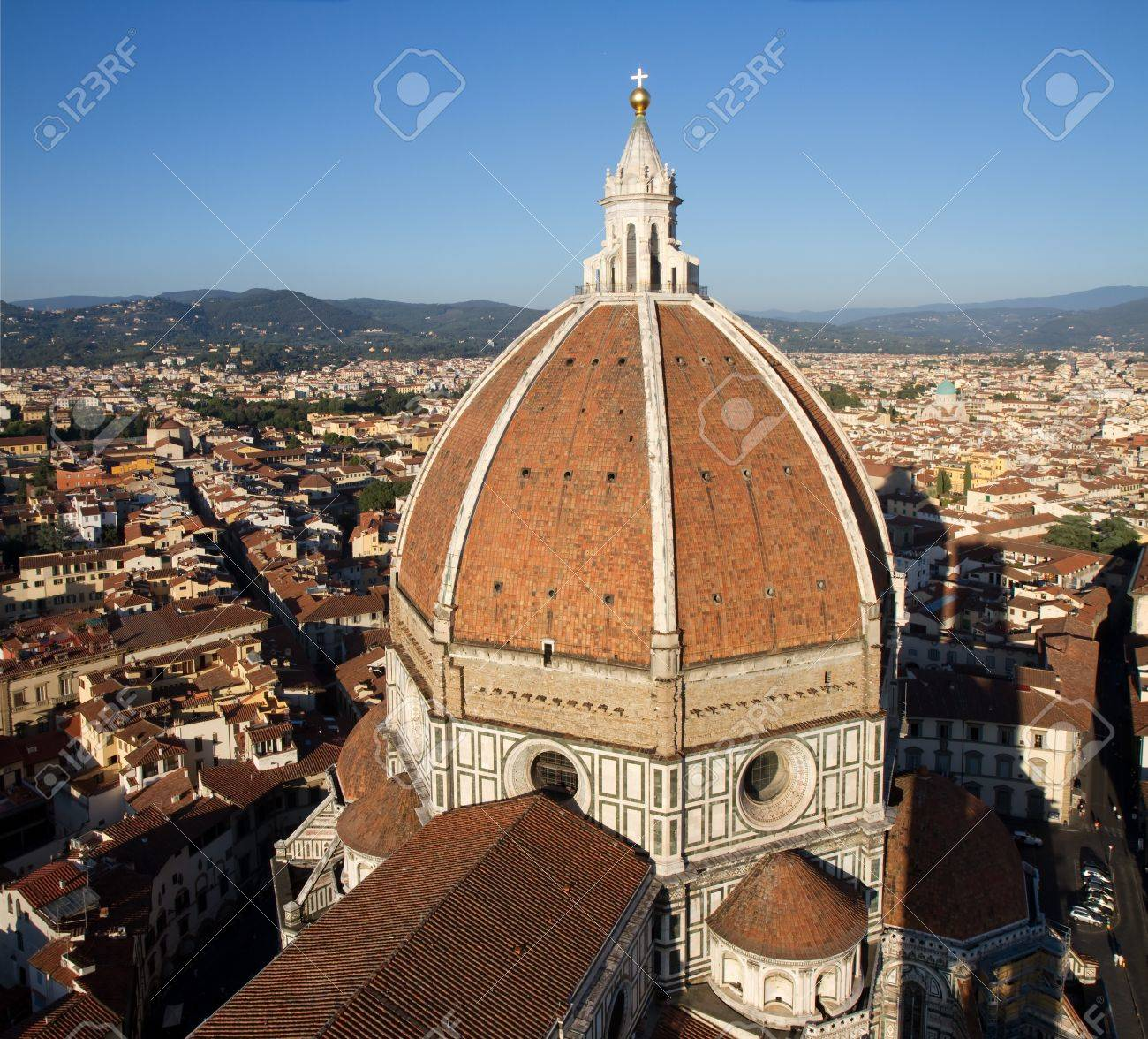 Dome of Florence cathedral as seen from the Bell Tower, Tuscany, Italy Stock Photo - 8576160