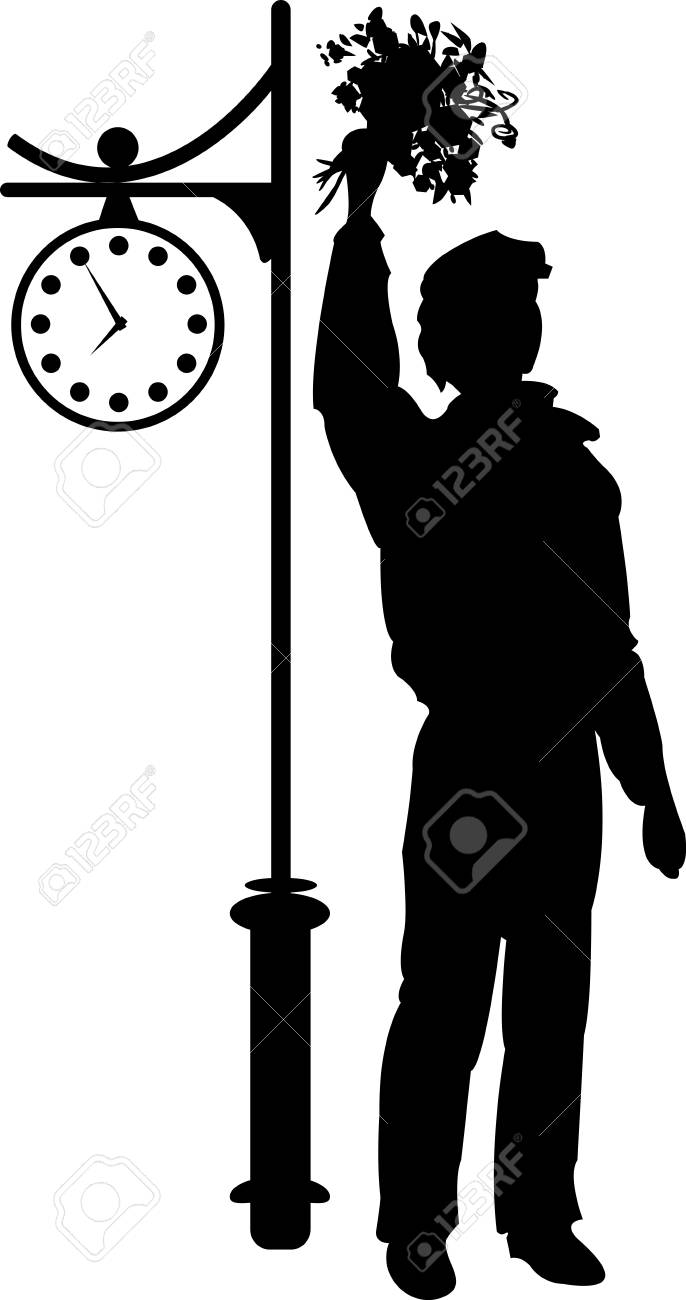 Silhouette of man Stock Vector - 17300055
