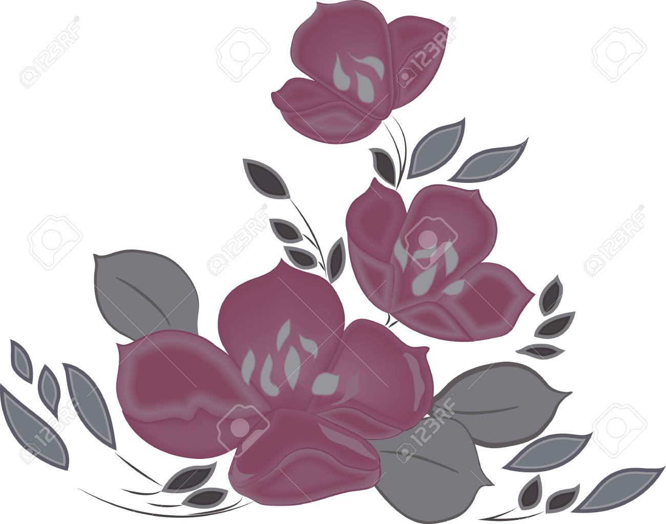 Hand-drawing floral background  Element for design  Vector illustration Stock Vector - 19324546