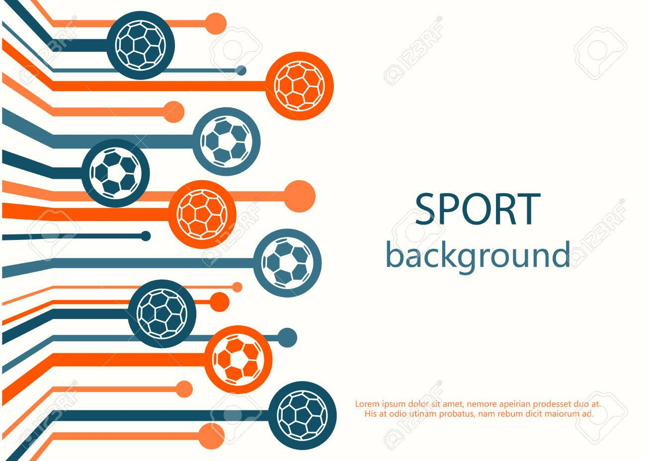 Concept Of Web Banner Sport Background Stock Vector