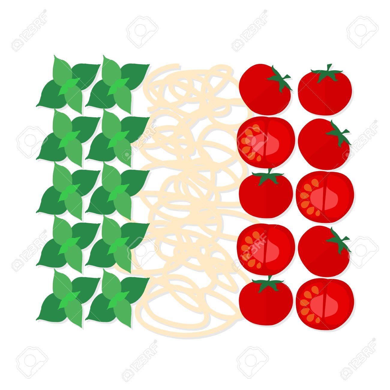 Piatto Design Simbolo Della Cucina Tradizionale Italiana, I Colori ...