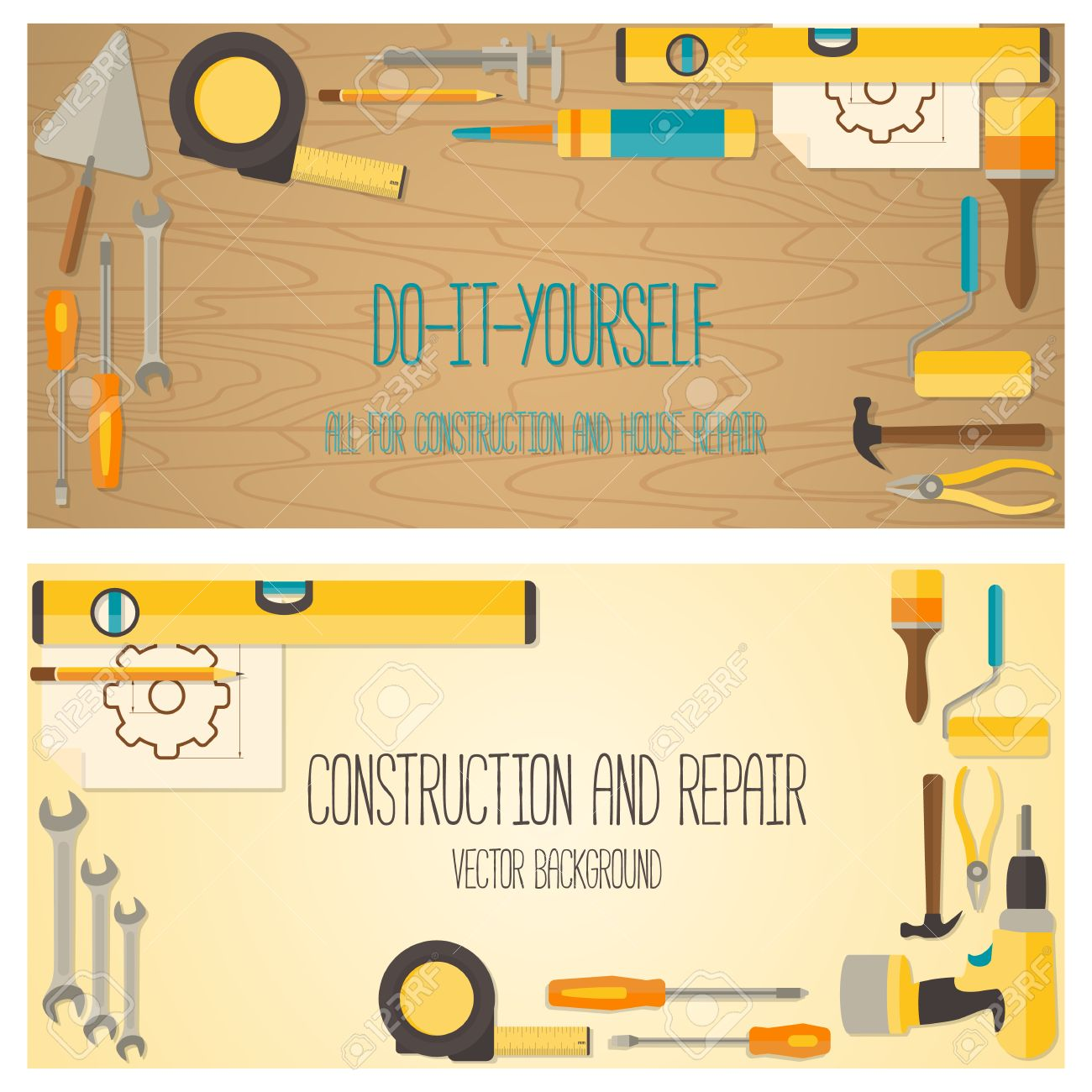 web banner concept of diy shop. vector flat design background.. royalty  free cliparts, vectors, and stock illustration. image 43463679.  123rf