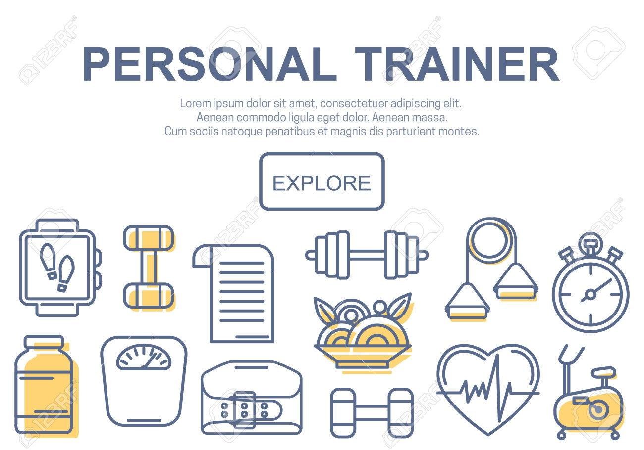 Concept of title site page or banner for personnel trainer program concept of title site page or banner for personnel trainer program includes sports equipment objects 1betcityfo Images