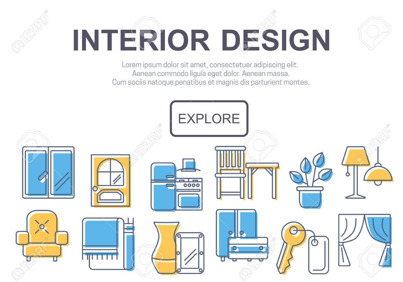 Konzept Der Titel Site-Seite Oder Banner Für Inter-Design Website ...