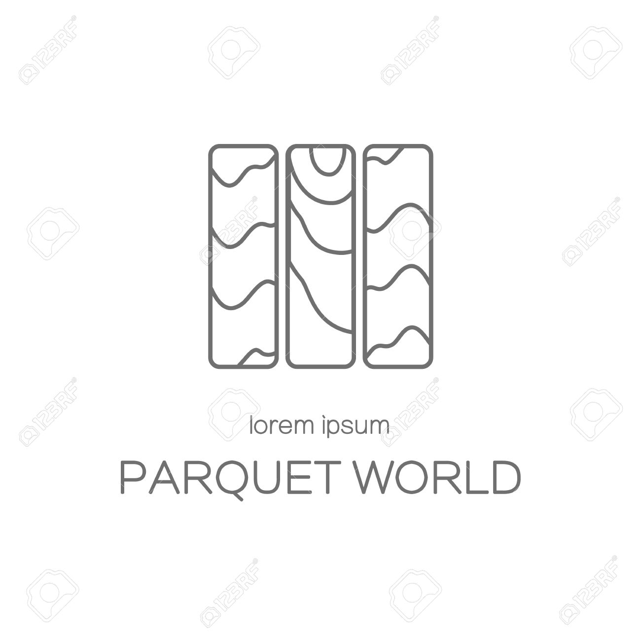 Wood Floor Or Parquet Icon Logotype Design Templates. Modern ...
