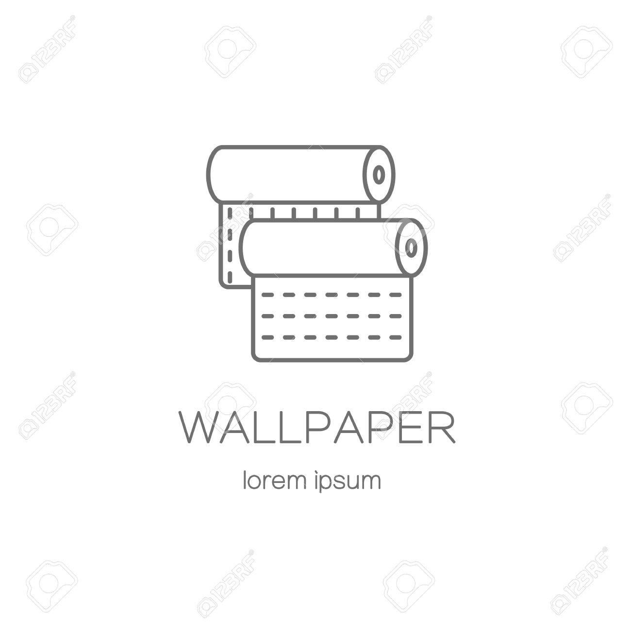 Wallpaper DIY Shop Logotype Design Templates. Modern Easy To ...