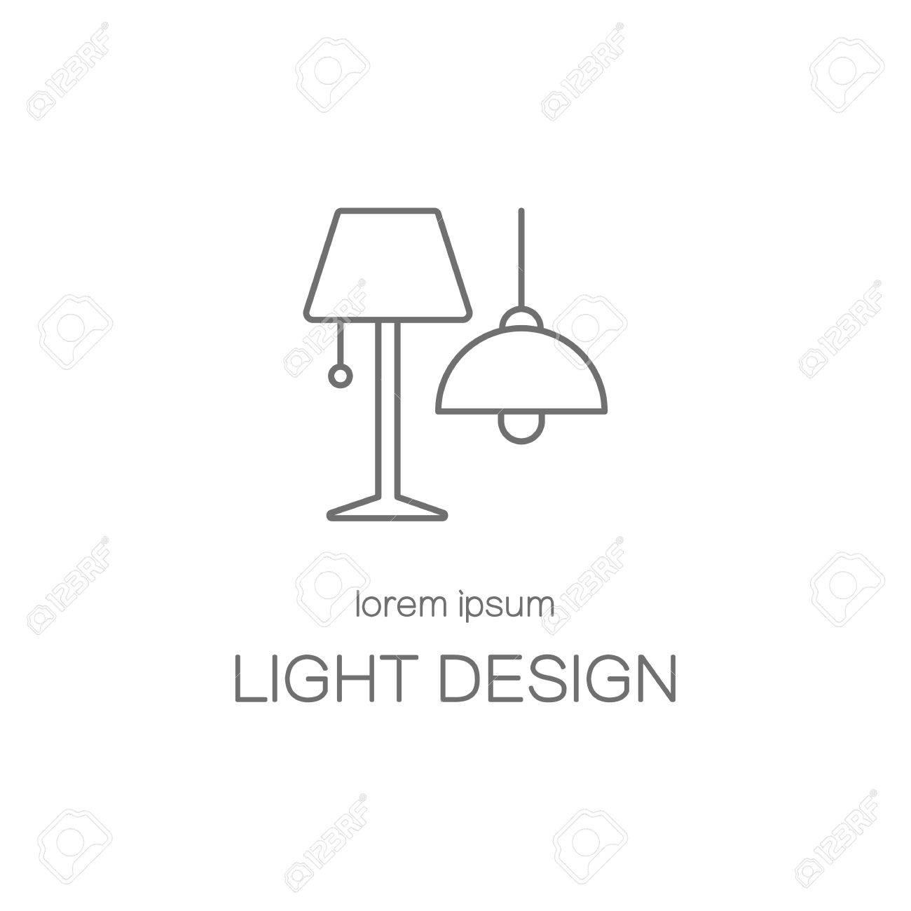 Light desigh house line icon logotype design templates. Modern easy to edit logo template. Vector logo design series. - 55945597