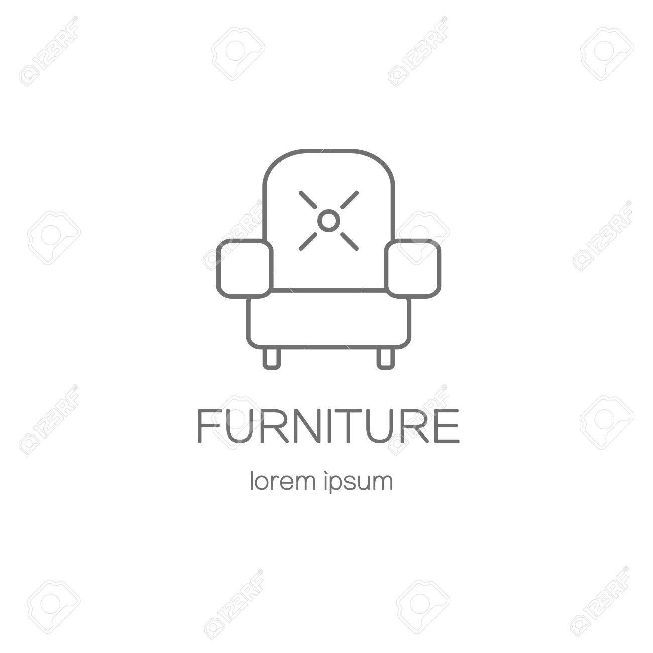 Sessel, Möbel Logo-Design-Vorlagen. Moderne Einfache Logo-Vorlage Zu ...