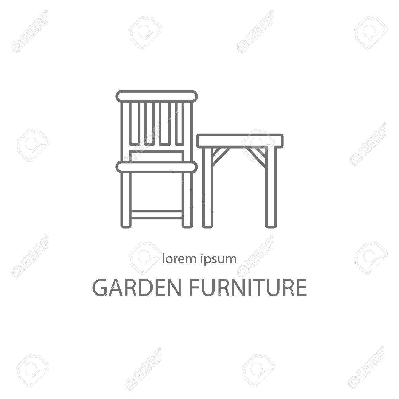 Gartenmöbel Logo-Design-Vorlagen. Moderne Einfache Logo-Vorlage Zu ...