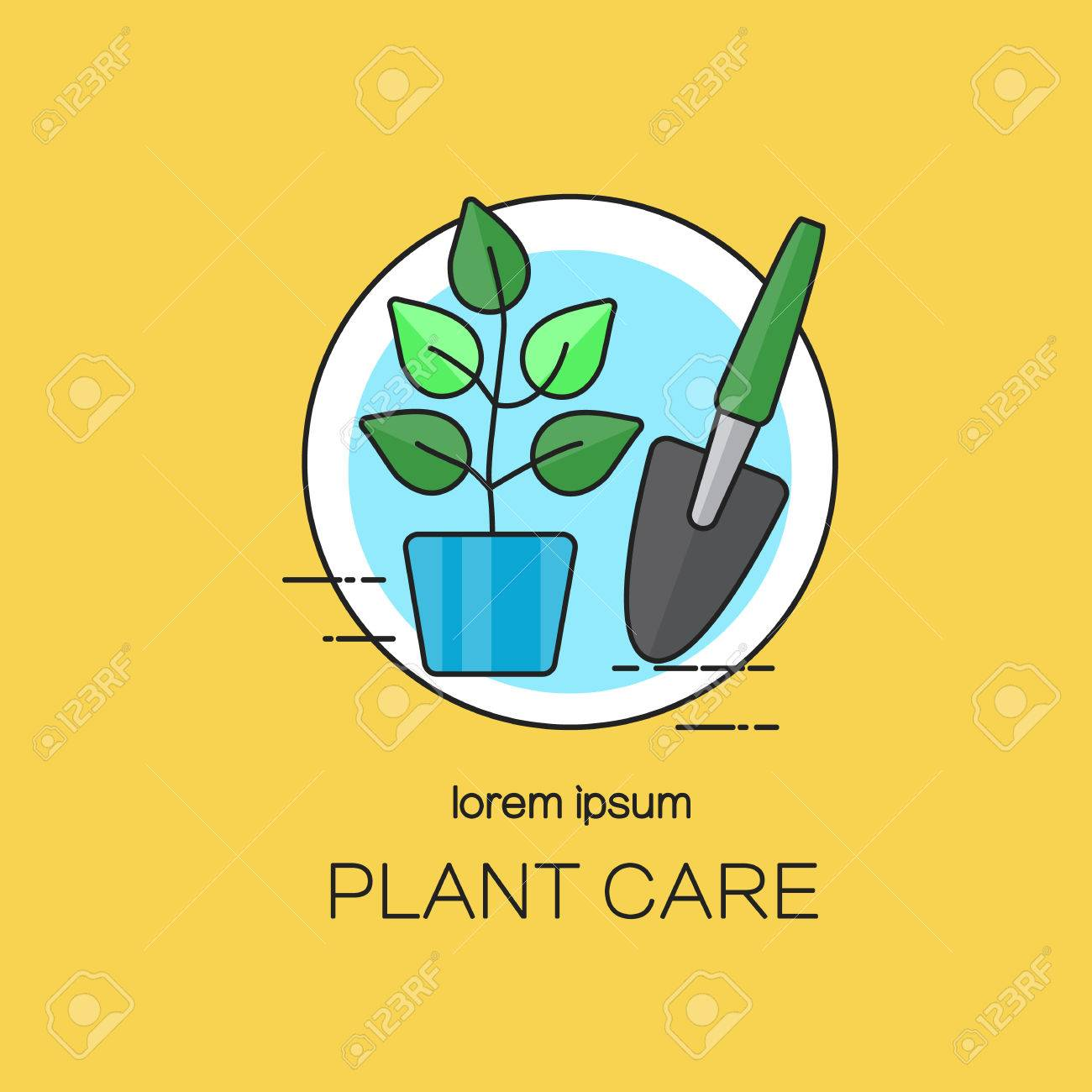 Plantillas De Diseño Para El Cuidado De Las Plantas. Ilustraciones ...