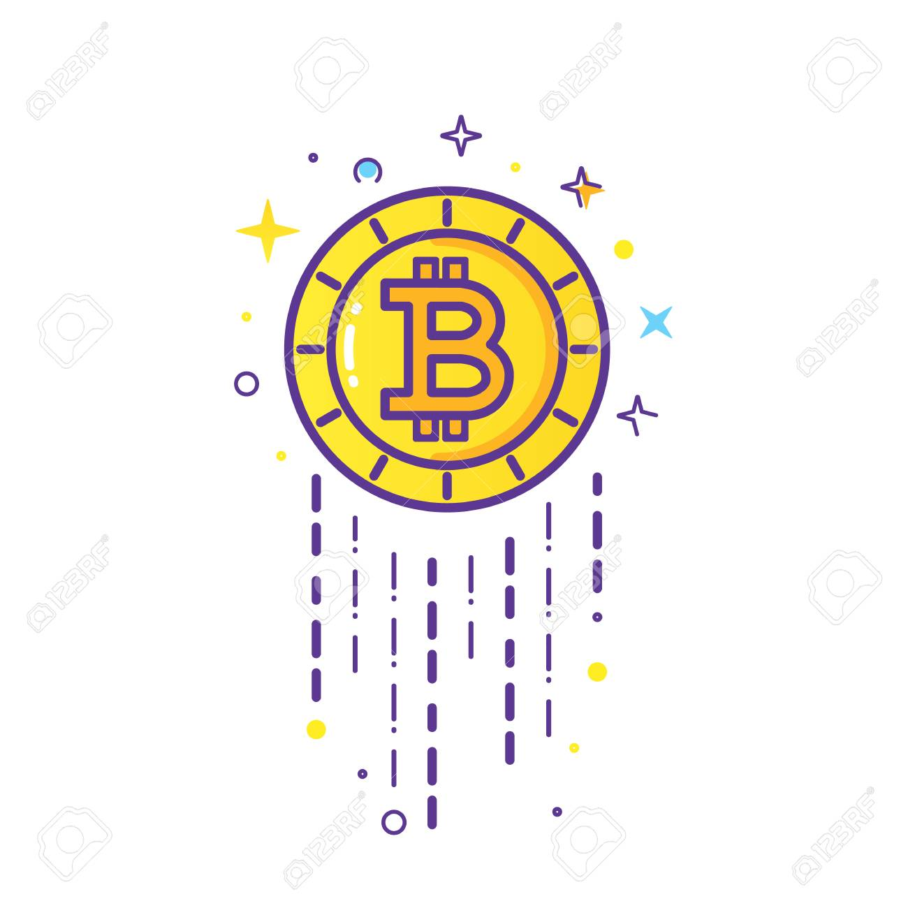 Bitcoin Logo Vector Royalty Free Cliparts Vectors And Stock Illustration Image 93680903