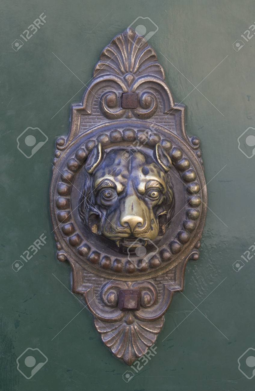 Dog Door Knocker Stock Photo Picture And Royalty Free Image Image