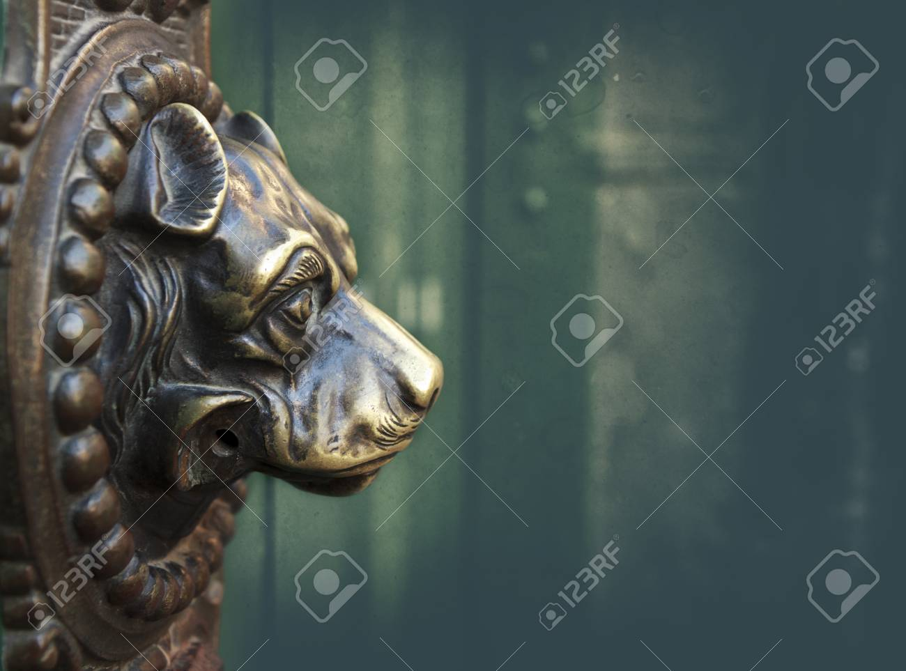 Vintage Dog Door Knocker Bronze Stock Photo Picture And Royalty