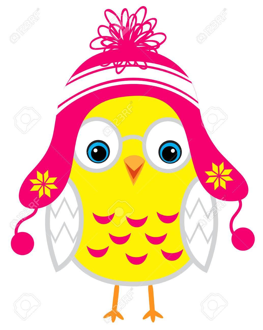 Pequeño Pollo Lindo Del Bebé De Dibujos Animados De Color Amarillo ...