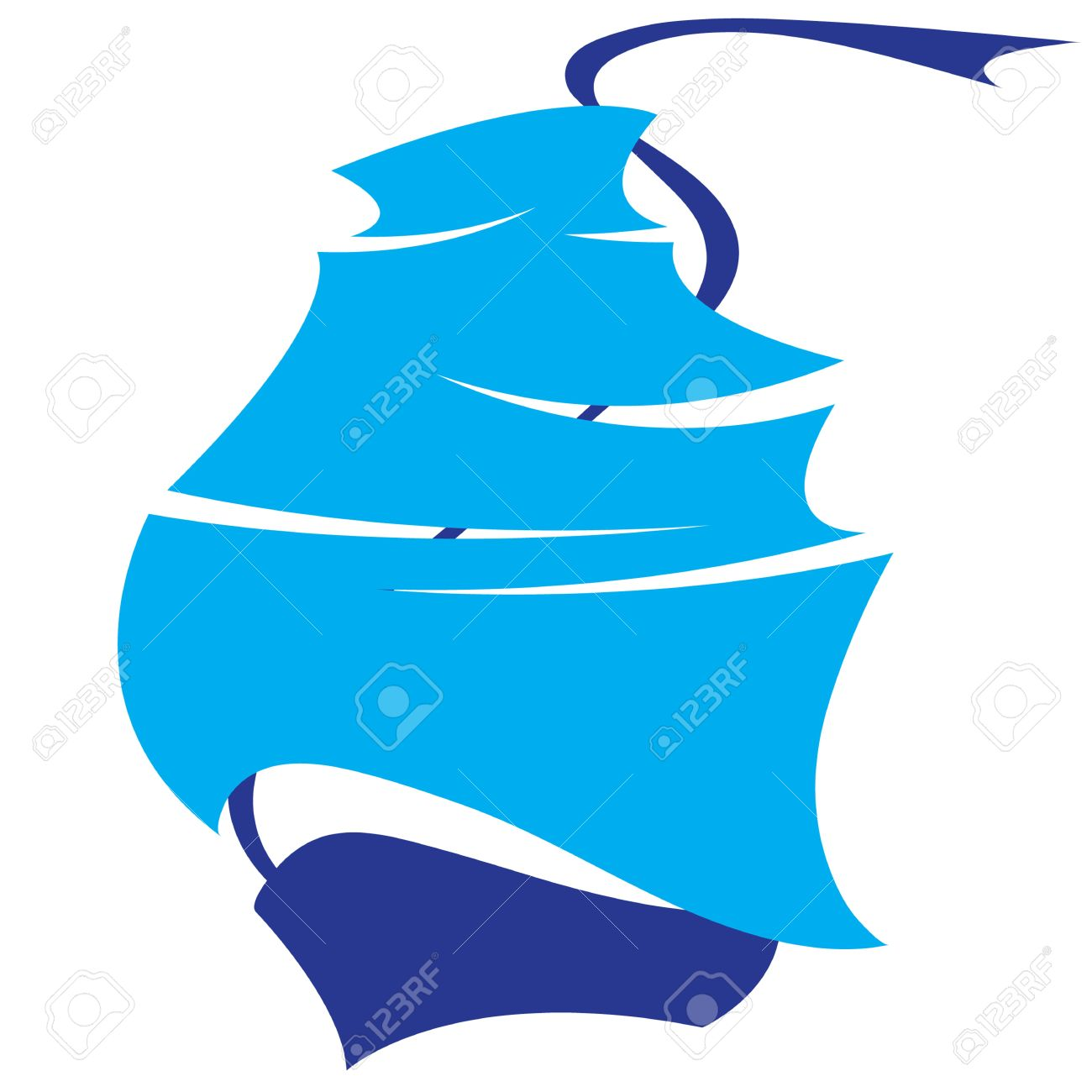 boat and sails symbol sea voyage Stock Vector - 13182994