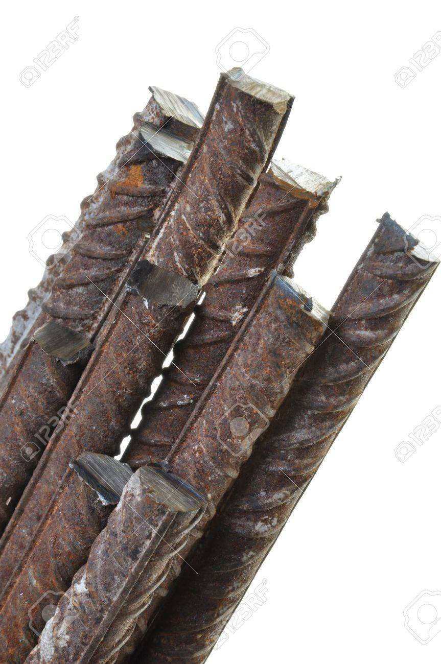 Steel reinforcing symbol of rising prices of raw materials Stock Photo - 13302164