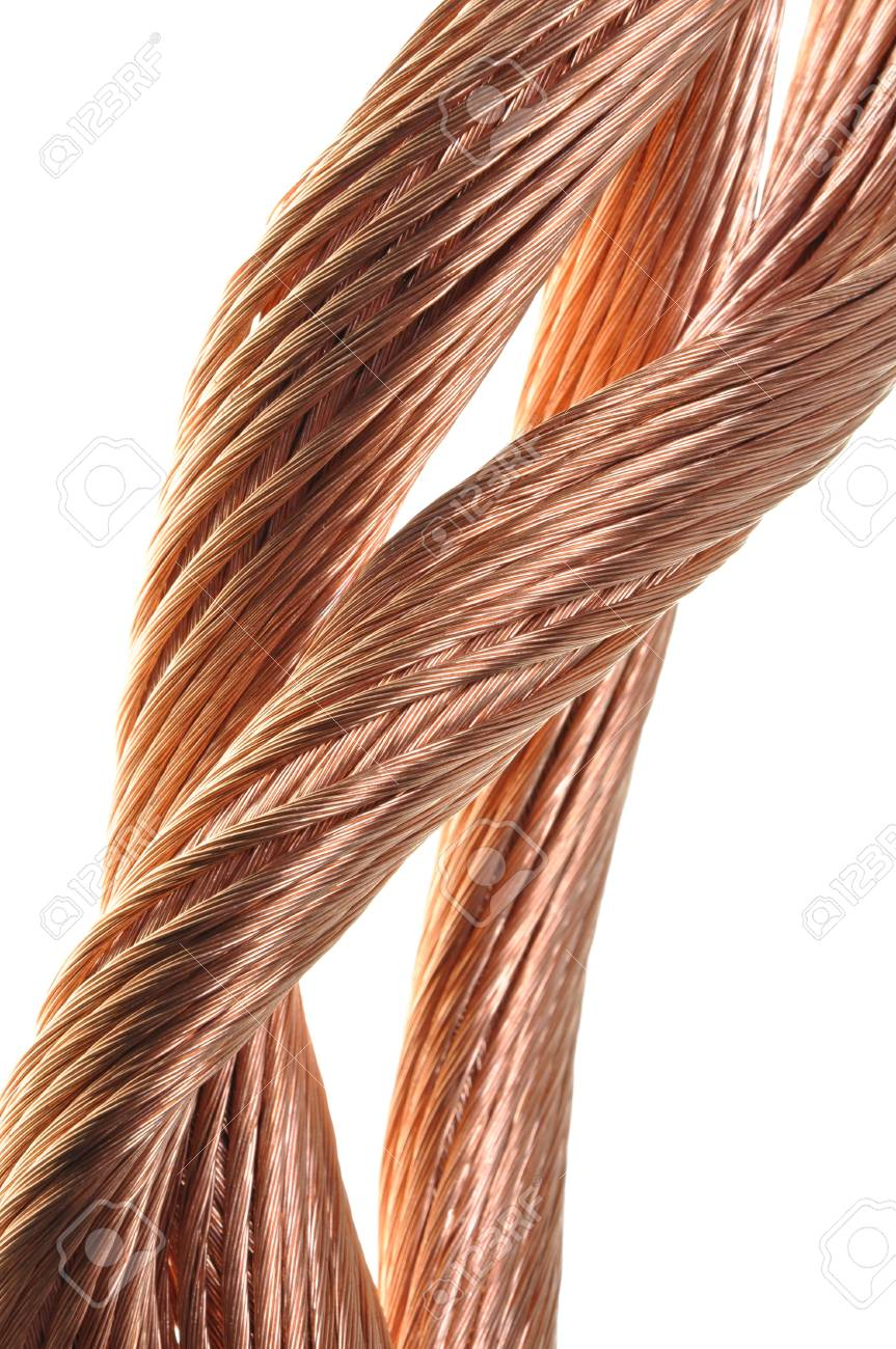 Copper wire, the concept of the energy industry Stock Photo - 17178845