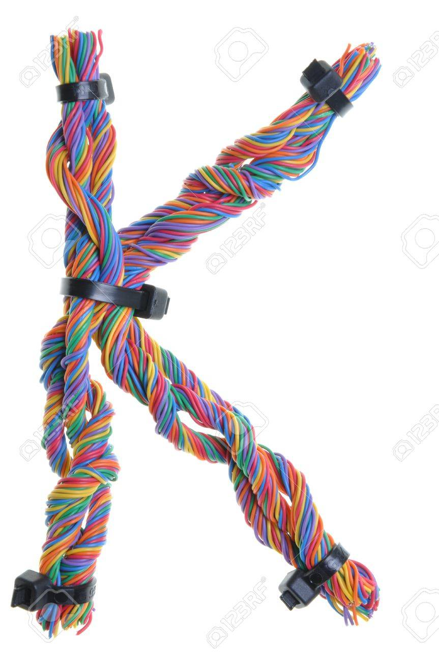 Colorful Wire In The Shape Of The Letter K Stock Photo, Picture And ...