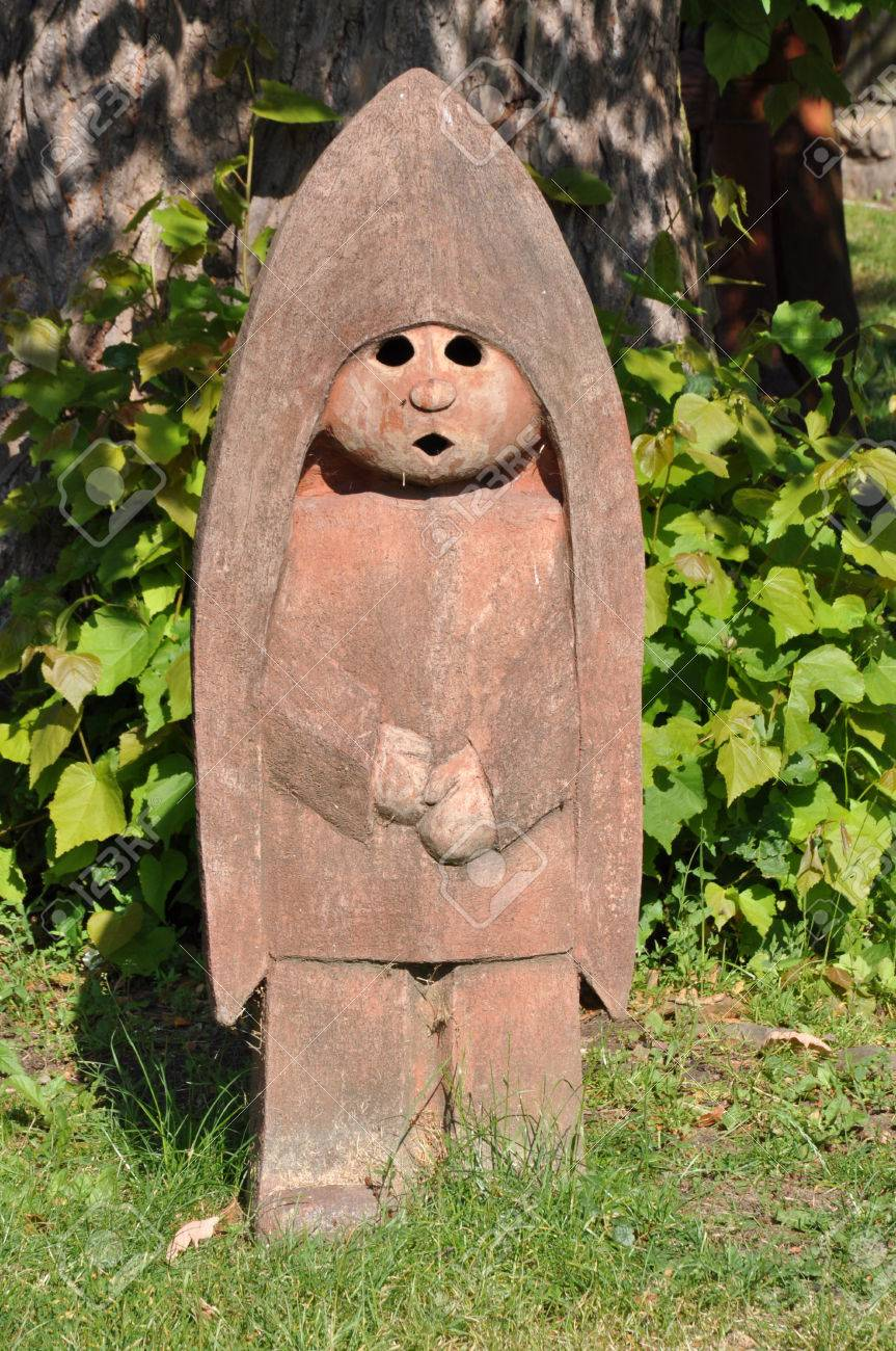Clay Sculptures In The Garden Stock Photo Picture And Royalty