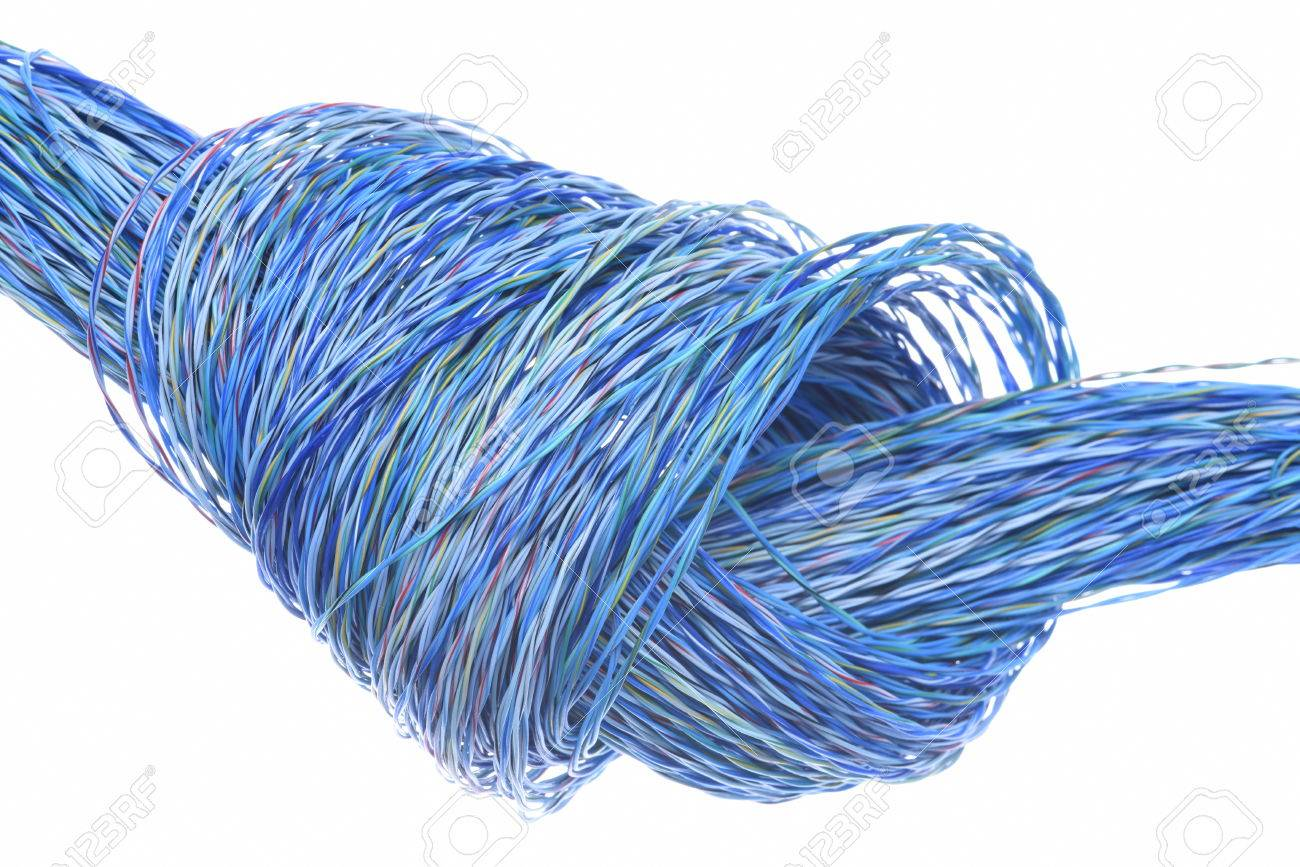 Colored Wires With Knot Used In Electrical And Computer Network ...