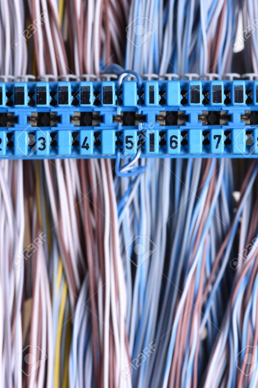 Telekommunikationsgeräte, Hauptverteiler Mit Kabelverbindungen ...