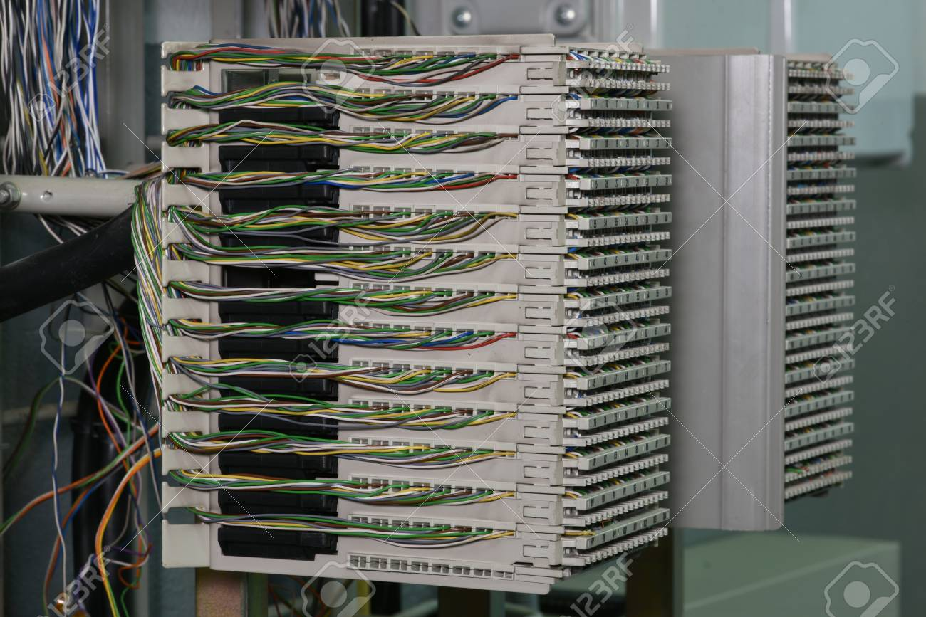 Main Distribution Frame In Telecom Center Stock Photo, Picture And ...