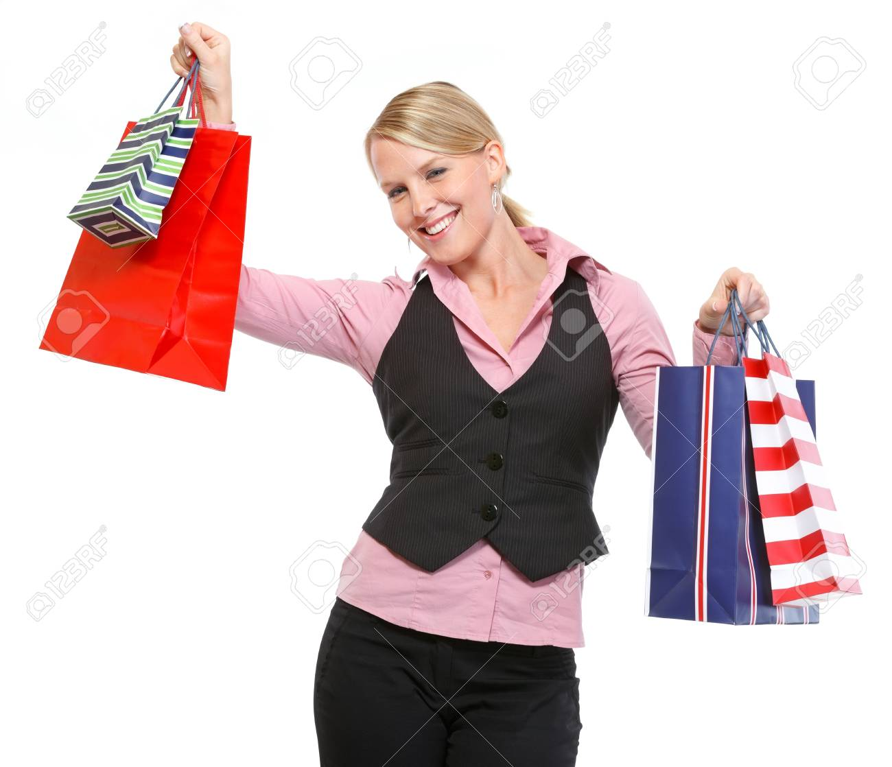 Happy woman with shopping bags Stock Photo - 14003064