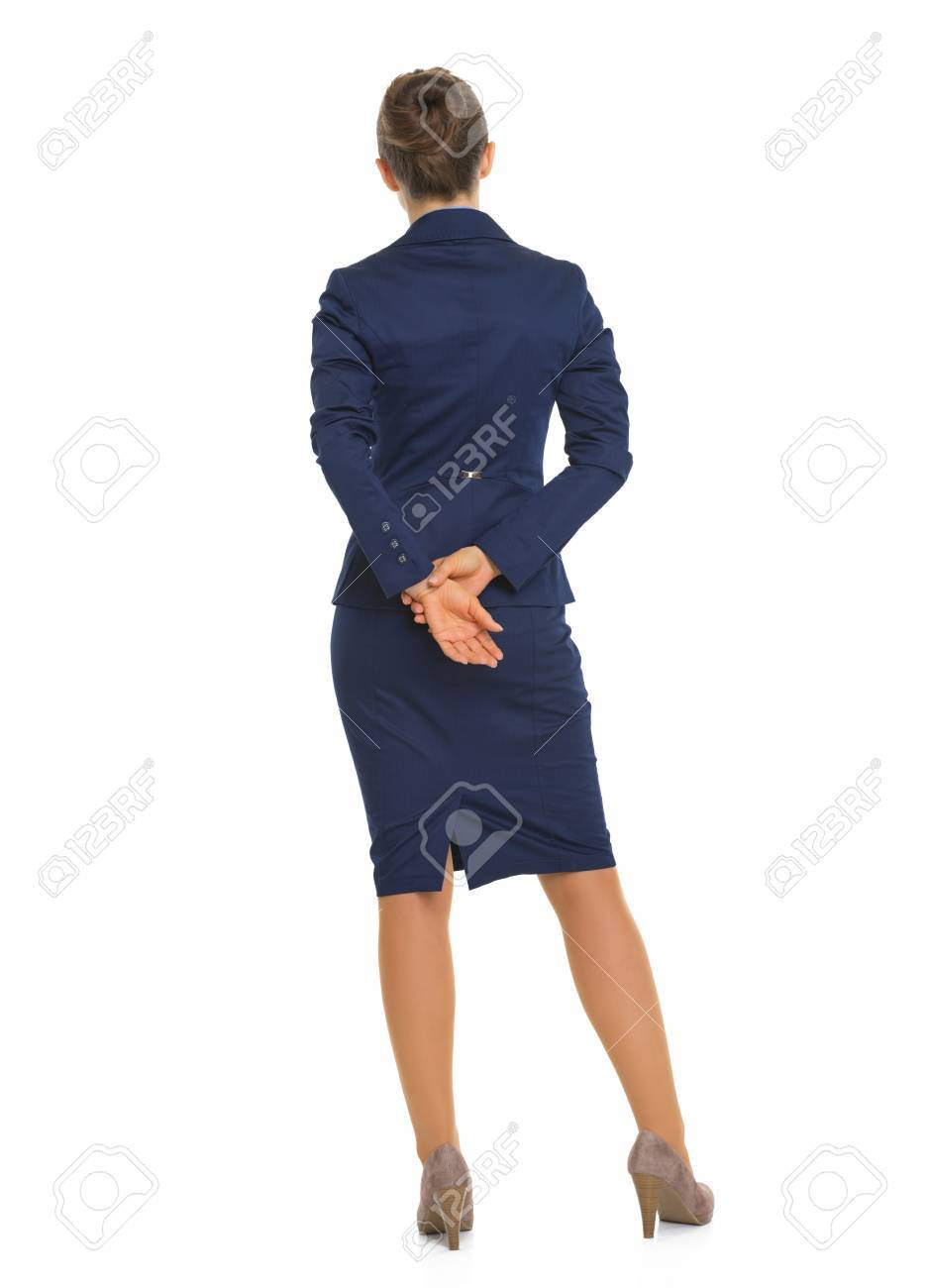 Full length portrait of business woman. rear view Stock Photo - 28102088