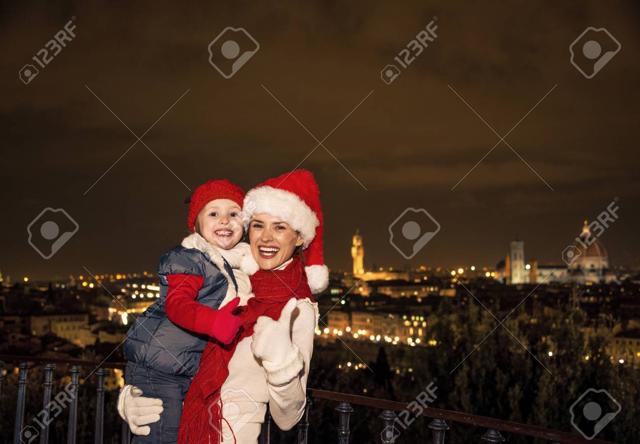 Reise Voller Inspiration Zur Weihnachtszeit In Florenz. Porträt Von ...