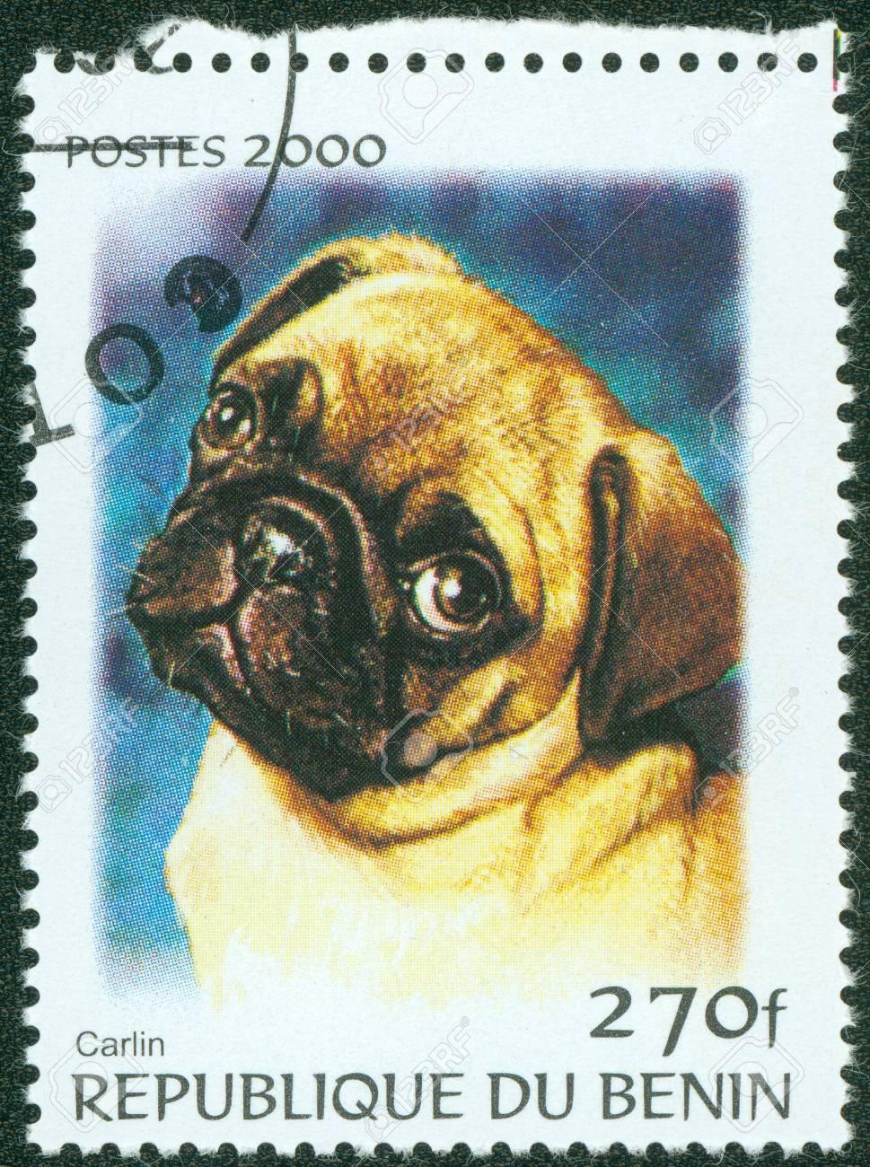 BENIN - CIRCA 2000  A stamp printed in BENIN,shows a dog, circa 2000 Stock Photo - 13858634