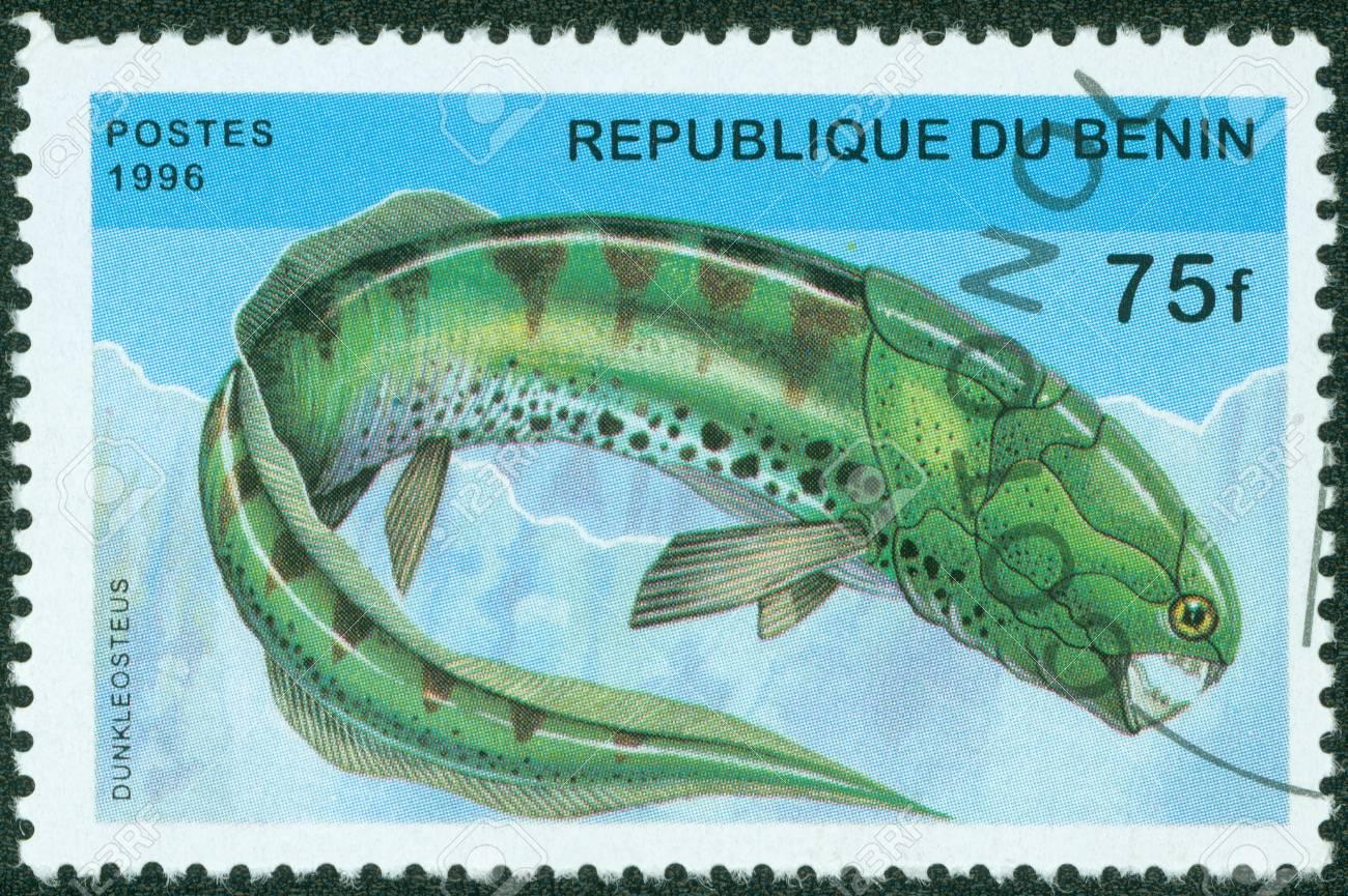 BENIN - CIRCA 1996  A stamp printed in BENIN shows fish, circa 1996 Stock Photo - 13975853