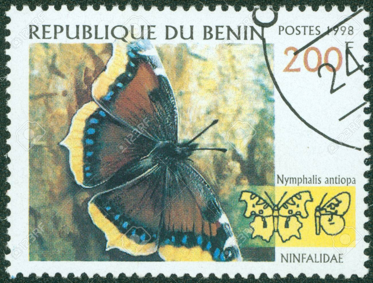 BENIN - CIRCA 1998  stamp printed by BENIN, shows butterfly, circa 1998  Stock Photo - 16266260