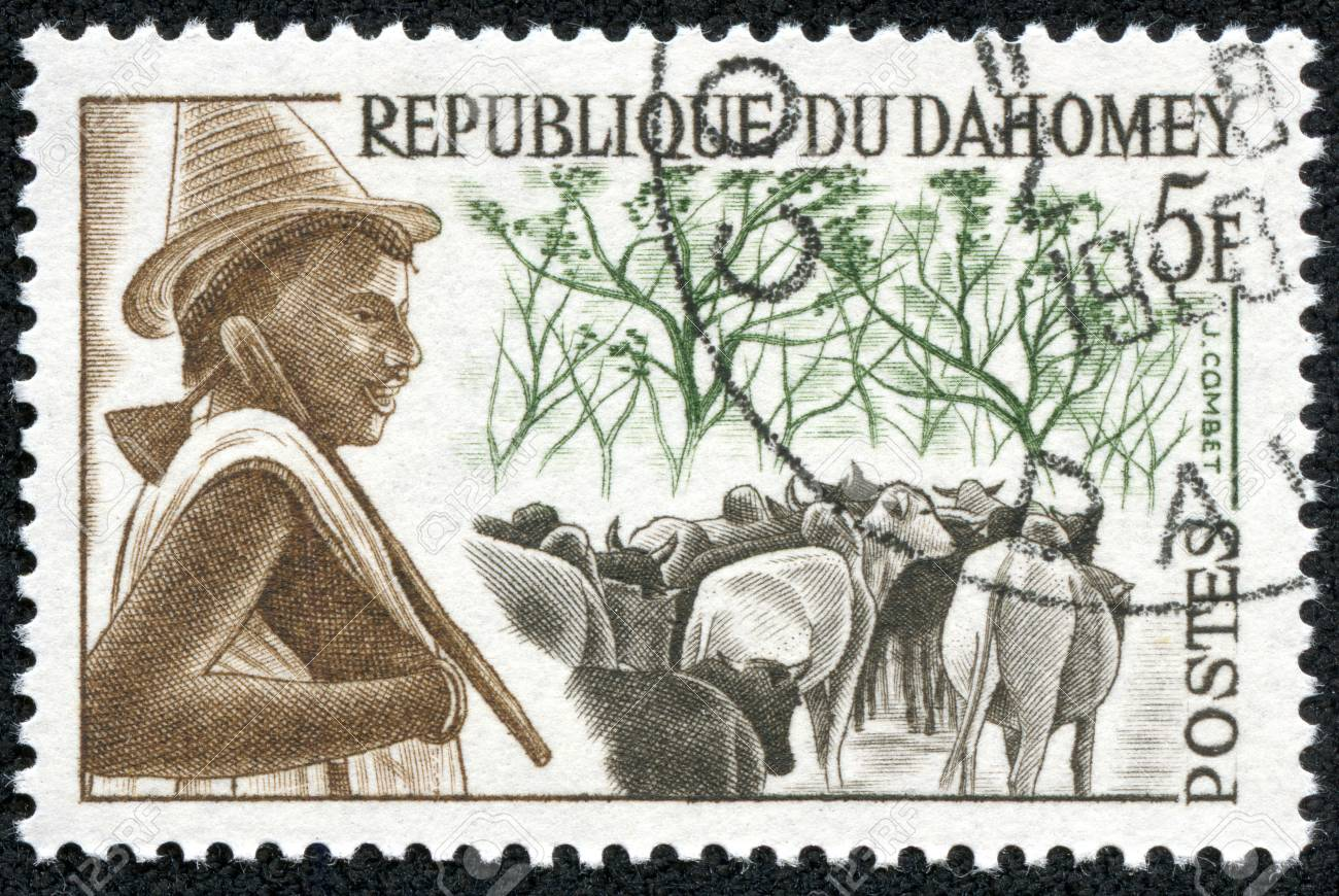 DAHOMEY - CIRCA 1968  A stamp printed in Dahomey  now called the Republic of Benin  shows, circa 1968 Stock Photo - 18535452
