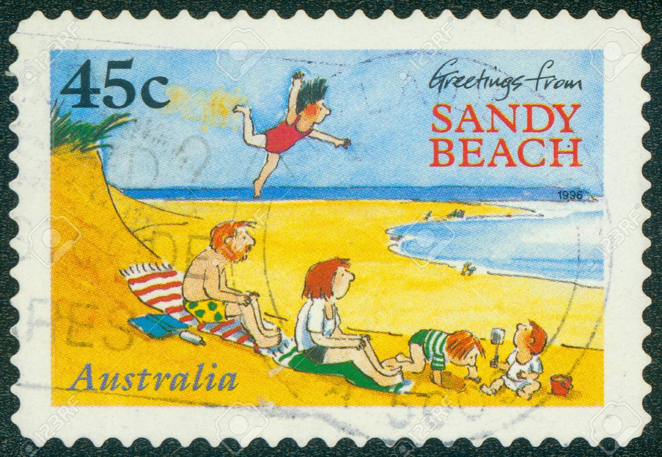 Australia Circa 1996 A Stamp Printed In Australia Shows Greetings
