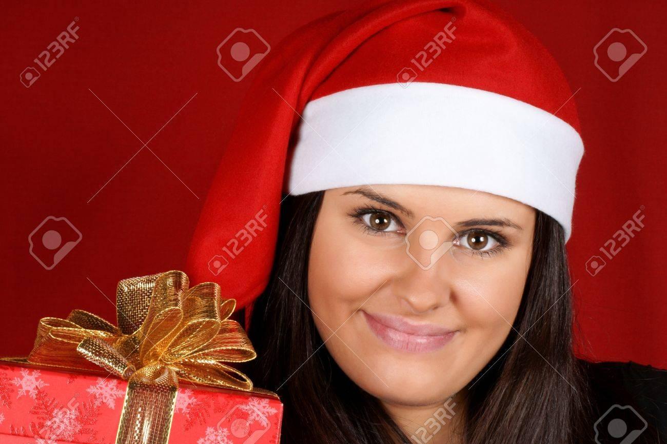 Schöne 18 Jahre Alt Santa Claus Mädchen Bietet Ein ...