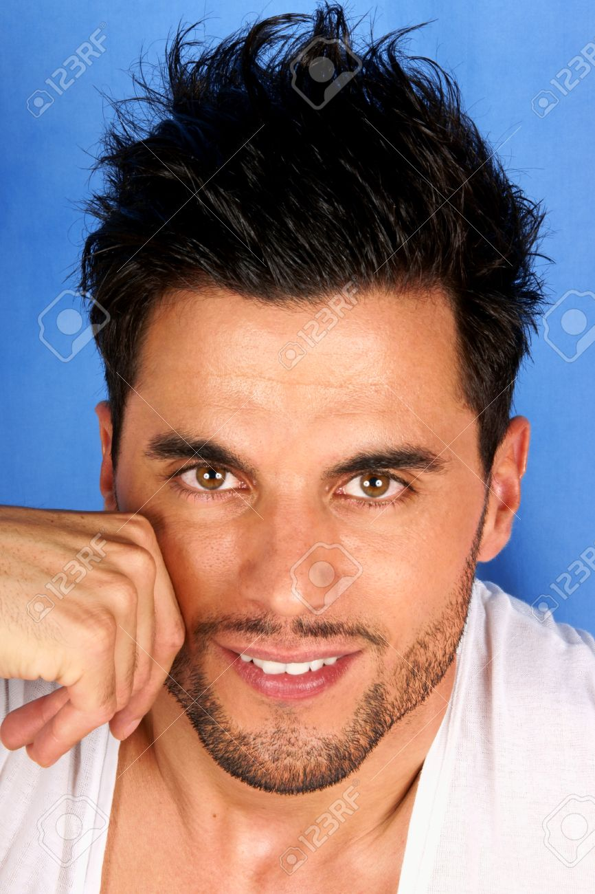 Smiling 30 Years Old Man With Black Hair And Brown Eyes Portrait