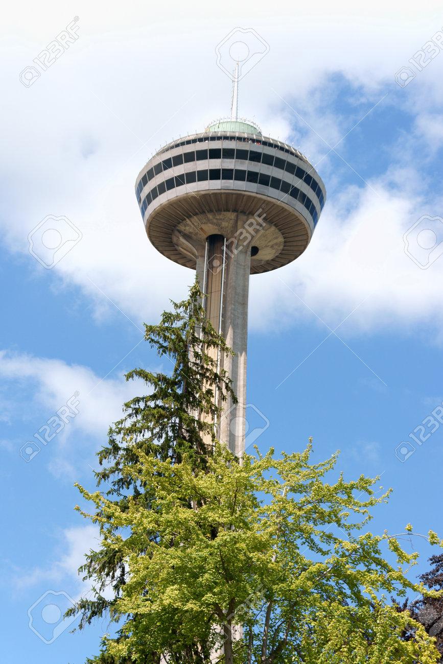 skylon tower at niagara falls, ontario, canada. this tower with
