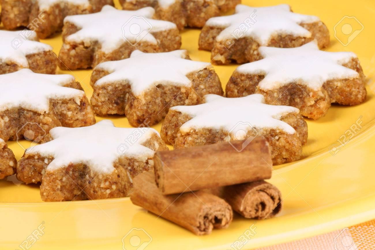 Cinnamon Star Cookies In German Zimtsterne Typical German