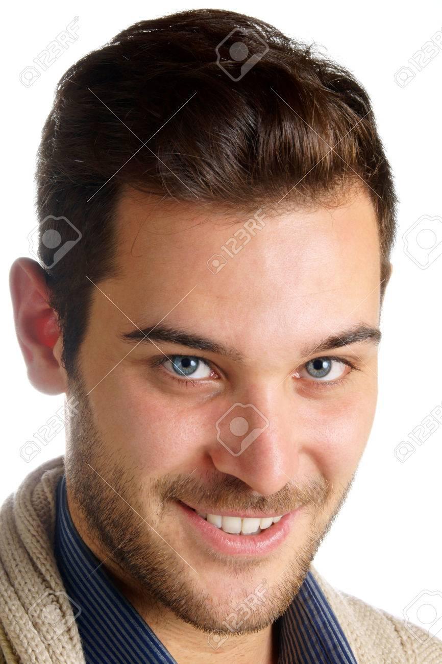 mann blaue augen dunkle haare