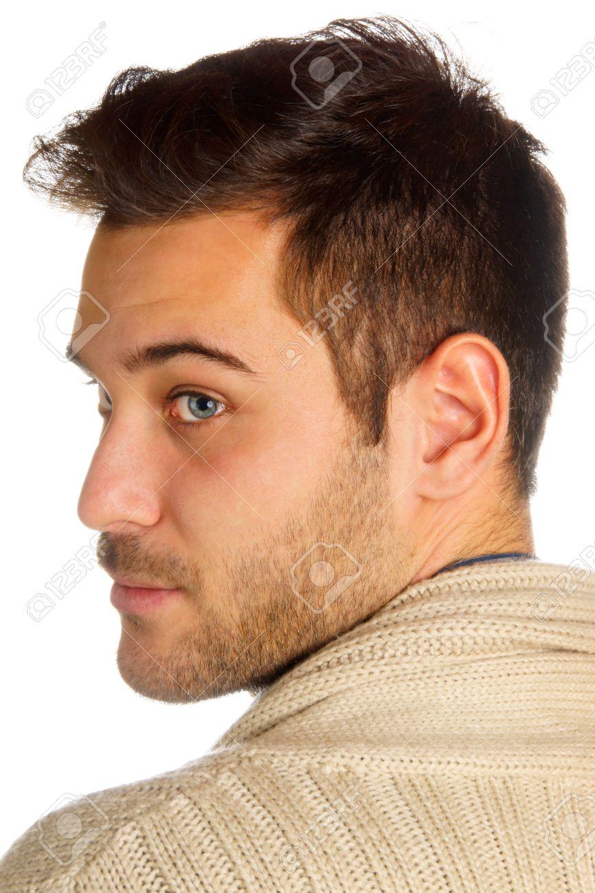 Dunkle haare augen männer blaue blaue augen