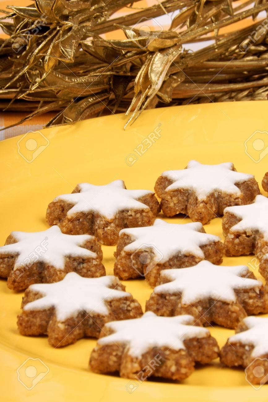 Cinnamon Star Cookies In German Zimtsterne Are Typical German